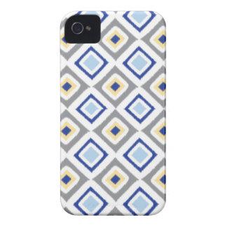 イカットのiPhoneの場合(青い) iPhone 4 Case-Mate ケース