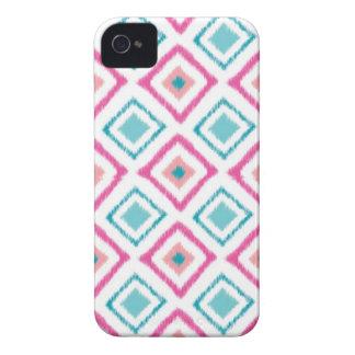 イカットのiphone 4ケース(ピンク) iPhone 4 ケース