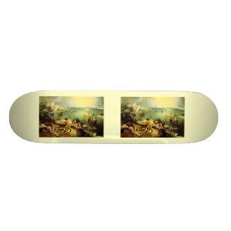 イカロス- 1558年の秋とのBruegelの景色 21.6cm オールドスクールスケートボードデッキ