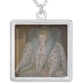 イギリスおよびアイルランドのエリザベス女王一世 シルバープレートネックレス
