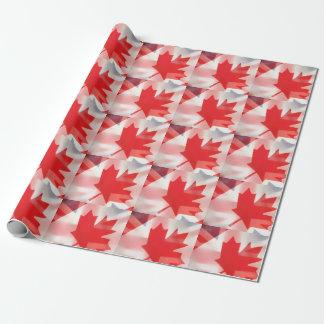 イギリスおよびカナダの旗 ラッピングペーパー