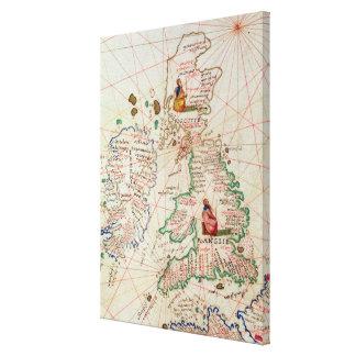 イギリスおよびスコットランドの王国 キャンバスプリント