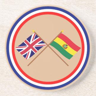 イギリスおよびボリビアによって交差させる旗 コースター