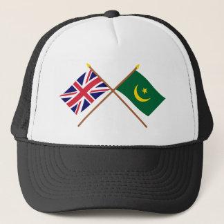 イギリスおよびモーリタニアによって交差させる旗 キャップ