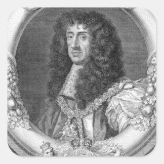 イギリスおよび怒りのチャールズII (1630-85年の)王 スクエアシール