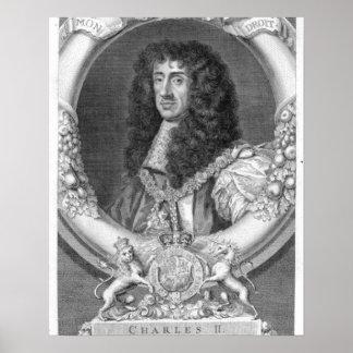 イギリスおよび怒りのチャールズII (1630-85年の)王 ポスター