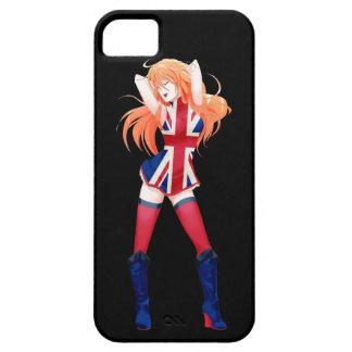 イギリスか英国のマンガの旗の女の子 iPhone SE/5/5s ケース