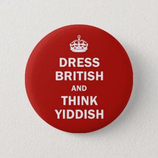イギリスに服を着せ、イディッシュ語を考えて下さい 5.7CM 丸型バッジ