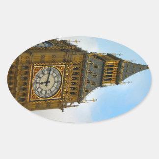 イギリスのまわり、    ビッグベン、ウエストミンスター 楕円形シール