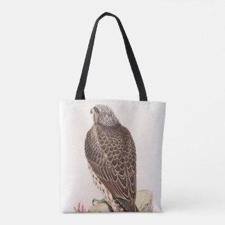 イギリスのアイスランドの《鳥》ハヤブサのGouldの若い鳥 トートバッグ