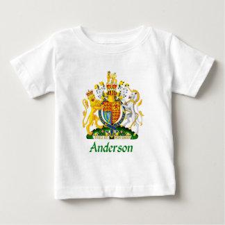 イギリスのアンダーソンの盾 ベビーTシャツ