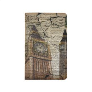 イギリスのイギリスロンドンのclocktowerビッグベン ポケットジャーナル