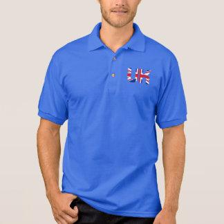 イギリスのイニシャルの英国国旗 ポロシャツ