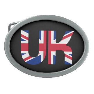 イギリスのイニシャルの英国国旗 卵形バックル