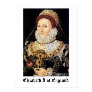 イギリスのエリザベス女王一世 ポストカード