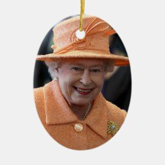 イギリスのエリザベス女王二世の女王 セラミックオーナメント