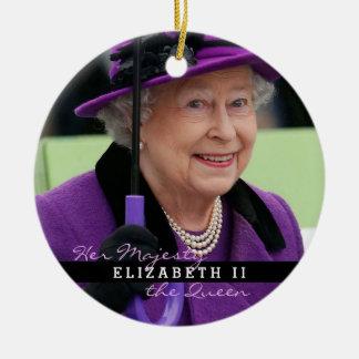 イギリスのエリザベス女王 セラミックオーナメント