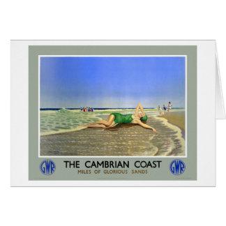 イギリスのカンブリアの海岸のヴィンテージ旅行ポスター カード