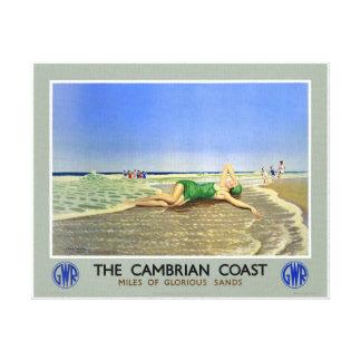 イギリスのカンブリアの海岸のヴィンテージ旅行ポスター キャンバスプリント