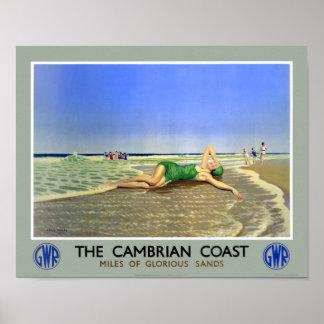 イギリスのカンブリアの海岸のヴィンテージ旅行ポスター ポスター
