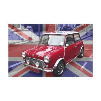 イギリスのクラシックな小型車 キャンバスプリント