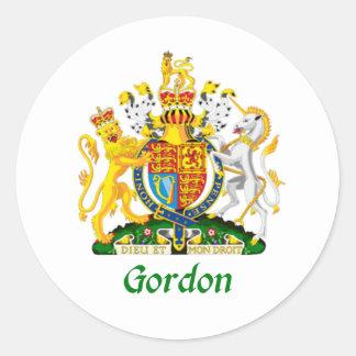 イギリスのゴードンの盾 ラウンドシール