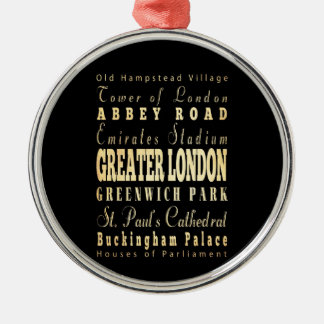 イギリスのタイポグラフィの大ロンドン都市 メタルオーナメント