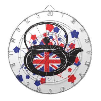 イギリスのティーポットの金属のおりのダート盤 ダーツボード