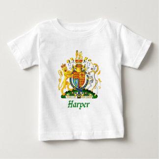 イギリスのハープ奏者の盾 ベビーTシャツ