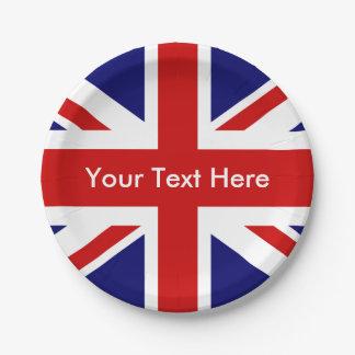 イギリスのパブの英国国旗 ペーパープレート