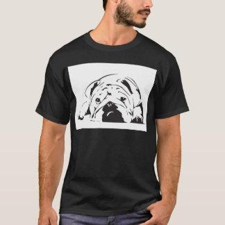 イギリスのブルドッグのステンシル Tシャツ