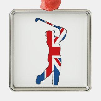 イギリスのベスト、ゴルファー メタルオーナメント