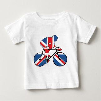 イギリスのベスト、サイクリング、英国国旗 ベビーTシャツ