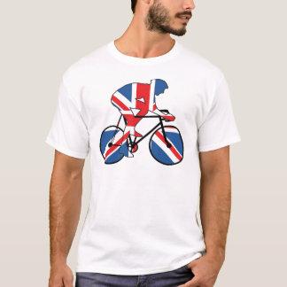 イギリスのベスト、サイクリング、英国国旗 Tシャツ