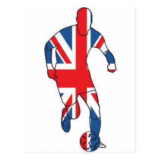 イギリスのベスト、フットボール ポストカード