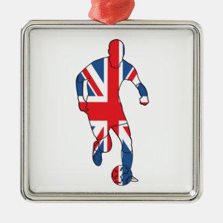 イギリスのベスト、フットボール メタルオーナメント