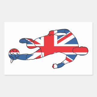 イギリスのベスト、フットボール 長方形シール