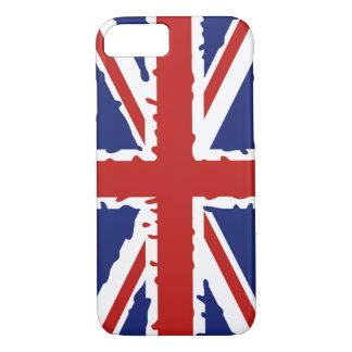 イギリスのペンキのしぶきの旗 iPhone 8/7ケース