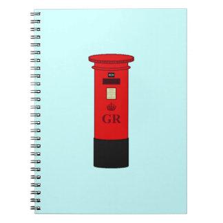 イギリスのポスト箱 ノートブック