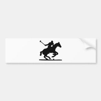 イギリスのポロのスポーツの馬プレーヤーのシルエットの子馬 バンパーステッカー