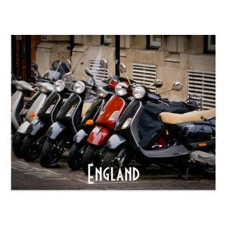 イギリスのモーターバイクの郵便はがき ポストカード