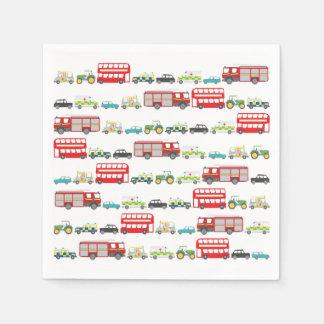 イギリスの交通渋滞 スタンダードカクテルナプキン