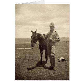 イギリスの兵士の古い写真 カード