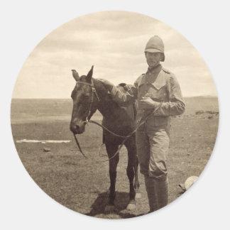 イギリスの兵士の古い写真 ラウンドシール