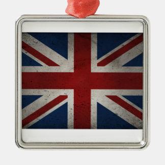 イギリスの動揺してな旗 メタルオーナメント