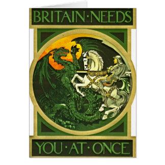 イギリスの募集ポスター1915年 カード