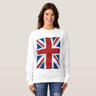 イギリスの国旗を振るベクトル スウェットシャツ