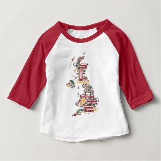 イギリスの地図の記号 ベビーTシャツ