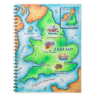 イギリスの地図 ノートブック