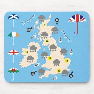 イギリスの天気予報の地図 マウスパッド